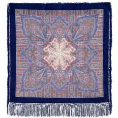 Pavlovo Posad Shawl Pavlovoposadskij with wool fringe 89 x 89 1157-13