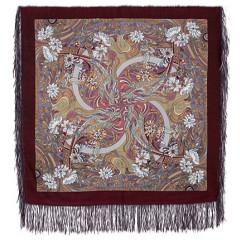 Pavlovo Posad Shawl Pavlovoposadskij with wool fringe 89 x 89 853-57