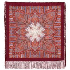 Pavlovo Posad Shawl Pavlovoposadskij with wool fringe 89 x 89 1157-7 Contemplation