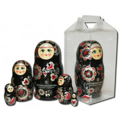Nesting doll 3 pcs. with a flas card, with logo under the individual sketch