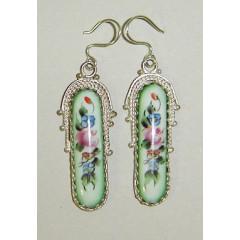 Enamel earrings Earrings of Drops
