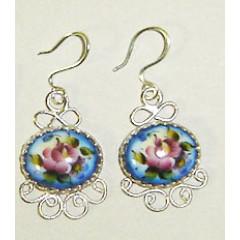 Enamel earrings Earrings Light