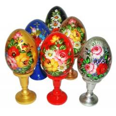 Easter egg wooden flowers
