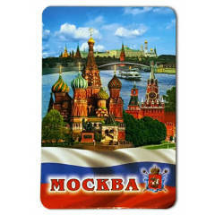 "Magnet vinyl 030-1-19K21 big ""Moscow, St. Basil's Cathedral, Tricolor"""