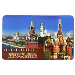 "Magnet vinyl 030-1-19K23 big ""Moscow, the Kremlin wall, St. Basil's Cathedral, Spasskaya tower"""
