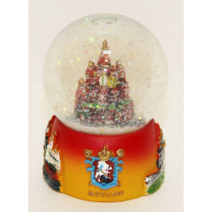 souvenir water ball 097R-45-19 Water full-sphere, Moscow, St. Bazils Cathedral, small, 6.5