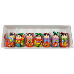 New Year and Christmas christmas tree toy set dolls with musical instruments, 7 items