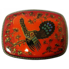 Lacquer Box Kholuy Grouse, red