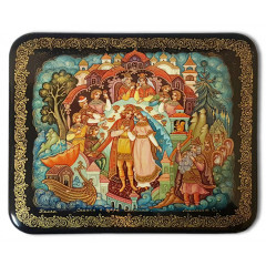 Lacquer Box Palekh The tale of Tsar Saltan, the author Maleeva S.