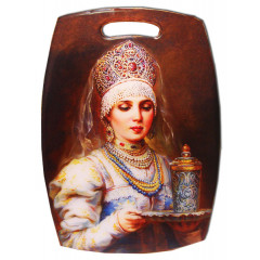 Ware kitchen chopping Board, 29 x 21 cm, Princess with glass.