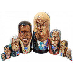 Nesting doll 10 pcs. Donald Trump, the American President