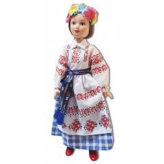 Doll handmade porcelain the Belarusian outfit