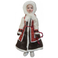 Doll handmade porcelain Yakut outfit