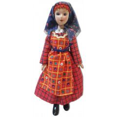 Doll handmade porcelain Baranowski outfit