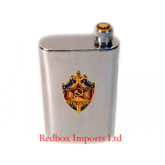 Flask metal 4 oz. KGB