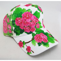 Headdress Baseball cap white, zhostovo