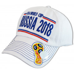 Headdress Baseball cap white with Cup, World Cup 2018, Russia