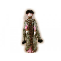 Doll handmade average AF-33 In a national costume
