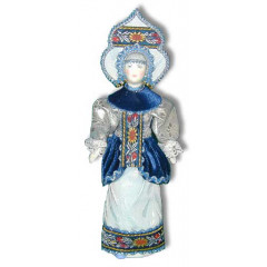 Doll handmade average AF-40 In a national costume