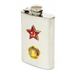 Flask metal Lenin - Red Star