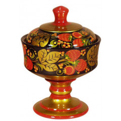 Khokhloma for food Vase for jam 140h110