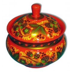 Khokhloma for food Sugar bowl 150h170
