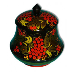 Khokhloma for food Tea-caddy 140h130
