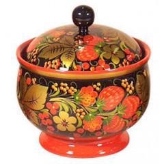 Khokhloma for food Sugar bowl 130h120