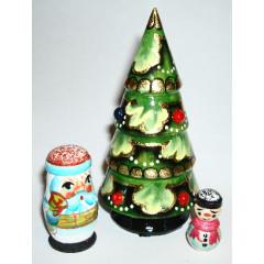 Nesting doll 3 pcs. Christmas tree
