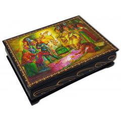 Lacquer Box The tale of Tsar Saltan, 14 x 10 x 3.5
