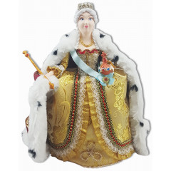 Doll handmade funny Catherine II, 292-025
