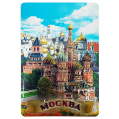 Magnet vinyl 025-6-19k25, Moscow, St. Basil's Cathedral, foil