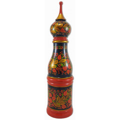 Khokhloma gift bottle cover