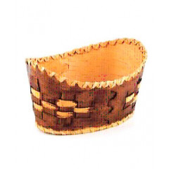 birch bark products Plate deep, Wicker, 15 x 20 x 7