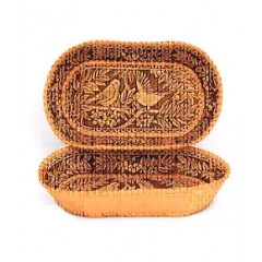 birch bark products plate decorative, Nature, 13 x 26 x 3.5