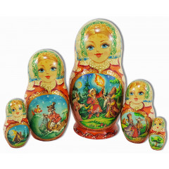 Nesting doll 5 pcs. The little humpbacked horse, Afanasiev Victor