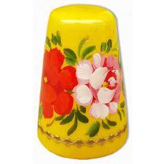 Thimble Zhostovo style, yellow background