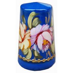 Thimble Zhostovo style, blue background