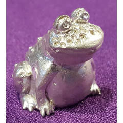 Thimble frog, bronze alloy with silver plated
