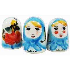 Thimble Matryoshka, ceramic