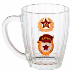 Ware beer mug, Guard, soldier's cockade