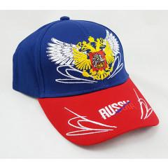 Headdress Baseball cap Russia, Russian coat of Arms, wings, blue top, red visor
