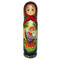 Nesting doll Case for bottle Girl in dance, 0,7