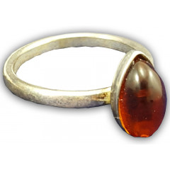 Amber ring in a frame 0030665-1