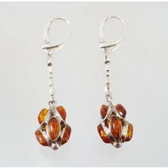Amber earrings Chestnut