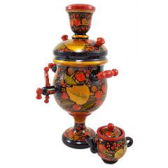 Khokhloma gift samovar wooden, 20