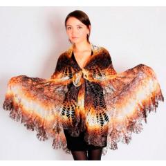 Pavlovo Posad Shawl Downy shawl handmade Drape, The Firebird