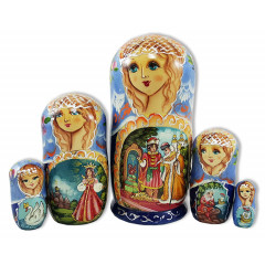 Nesting doll 5 pcs. Tsar Saltan, M