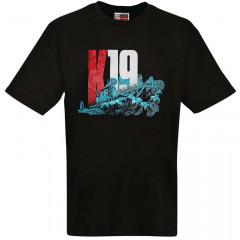 T-shirt S K-19, black S