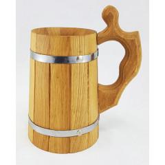Mug beer wooden, volume 0.8 l.